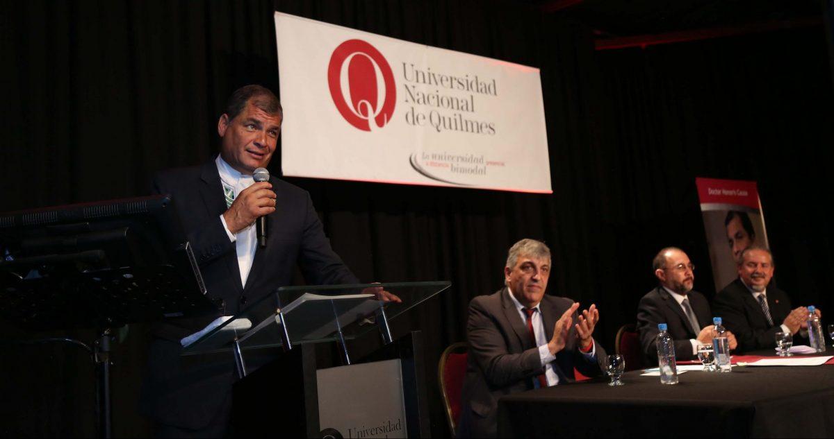 Ceremonia de Otorgamiento del Doctorado Honoris Causa, Universidad de Quilmes