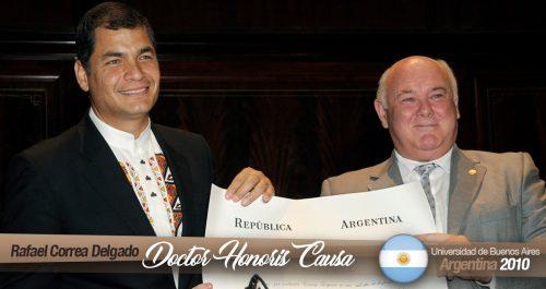 Doctorado Honoris Causa, Universidad de Buenos Aires – Argentina