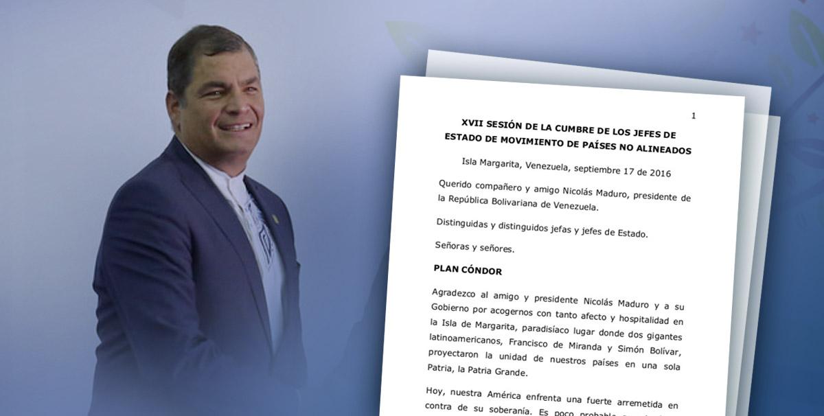 Discurso del Presidente Rafael Correa en la Cumbre MNOAL