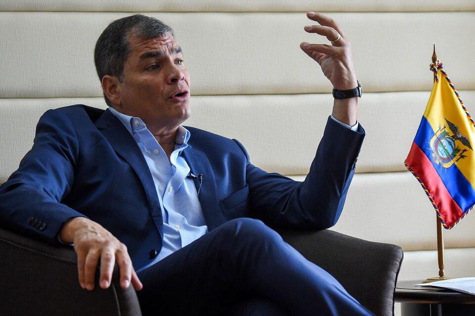 Rafael Correa: «Cambiaron la historia de Ecuador con trampas»